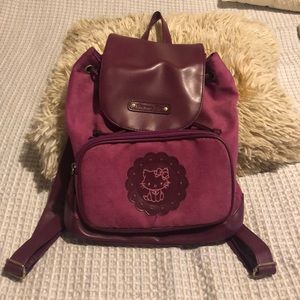 Hello kitty suede mini backpack